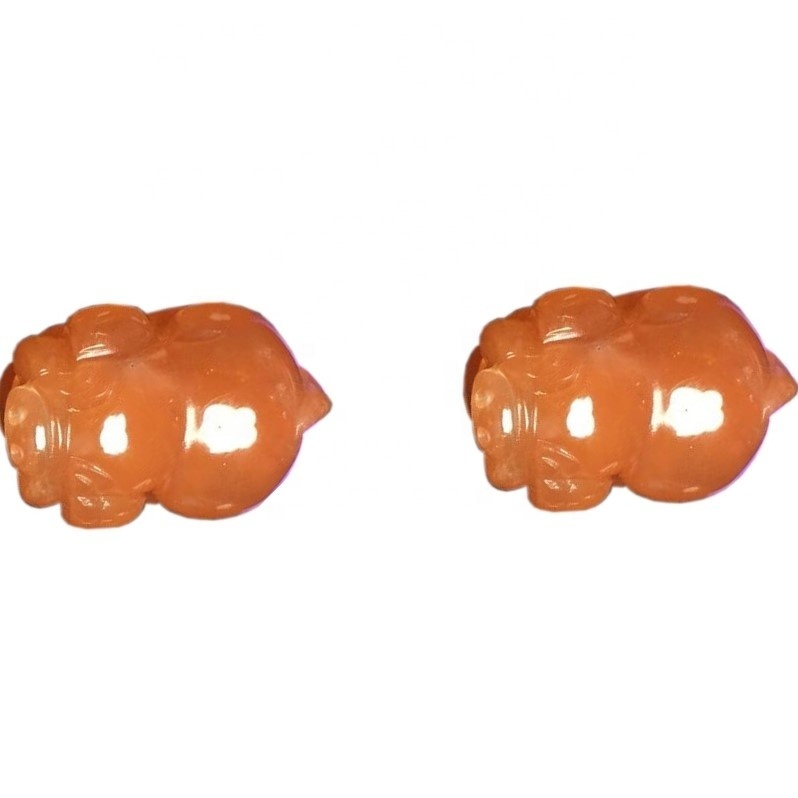 Wholesale crystal accessories gemstone natural pixiu carving sunstone quartz crystal