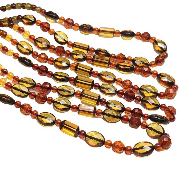 2021 personalized  fashion amber necklace