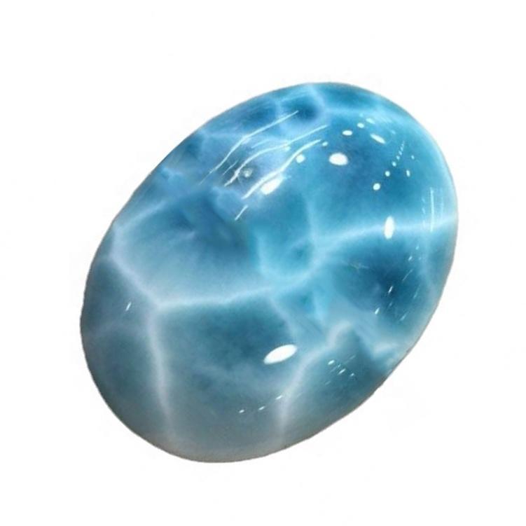 Natural Dominican larimar Natural Oval Larimar Cabochon Genuine Loose gemstone