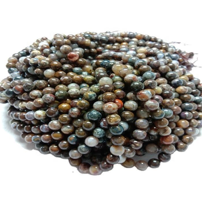Natural Golden Pietersite Round  shape beads Smooth gemstone strings