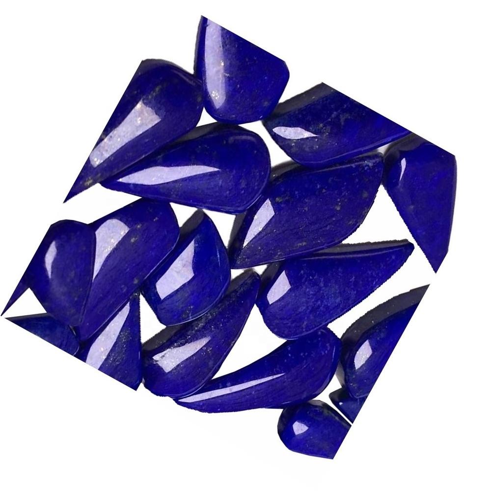 Lapis Lazuli Teardrop Cabochon Blue Lapis Cabochon Flat Back Pear Gemstone