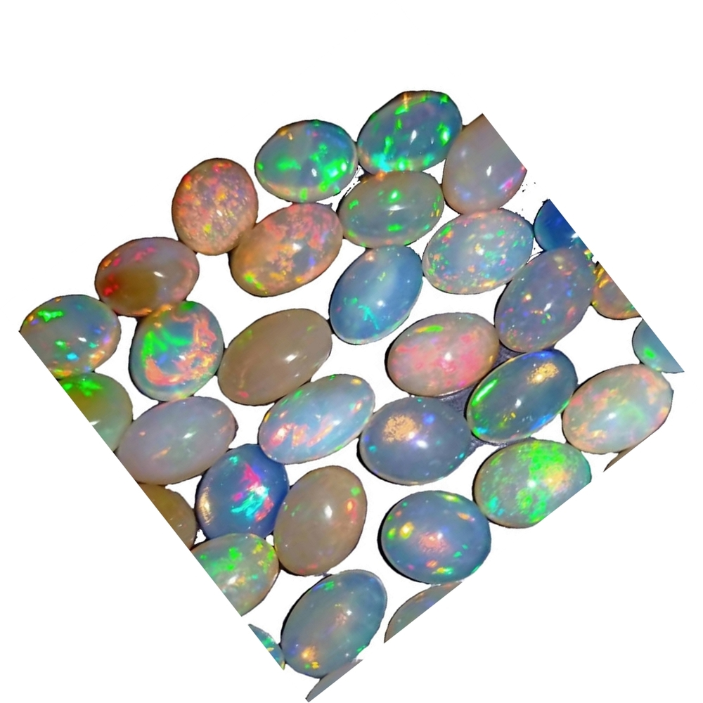 jewelry wholesale China best quality Oval Cabochon Flat Back natural Opal Gemstone for jewelry making