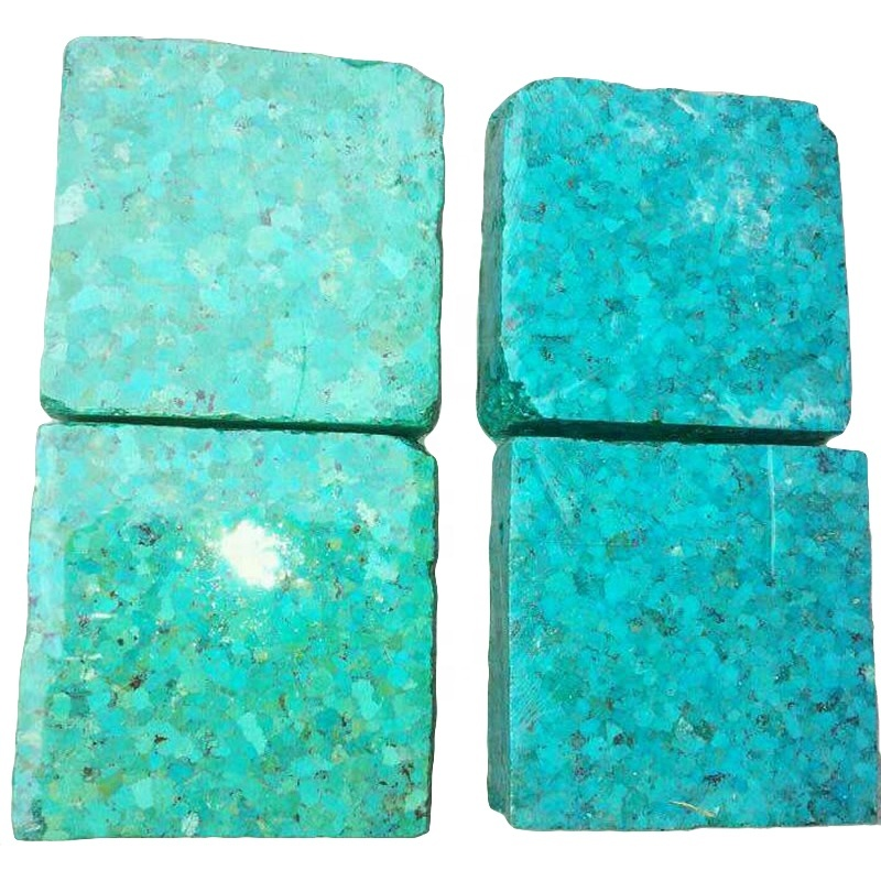 100% naturally precious turquoise gemstones copper compressed apple-green or blue color turquoise block
