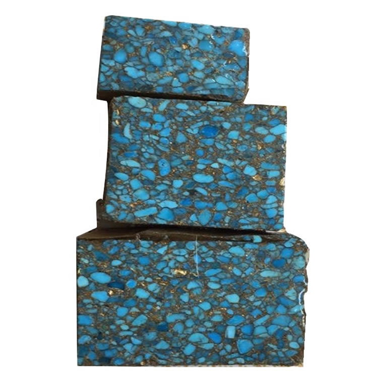 Really 100% naturally compressed turquoise material rough make wholesale