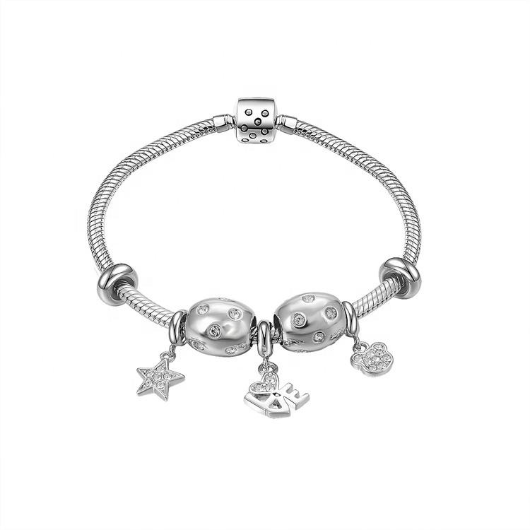 Gift for fashion girl famous brand 925 silver bracelet