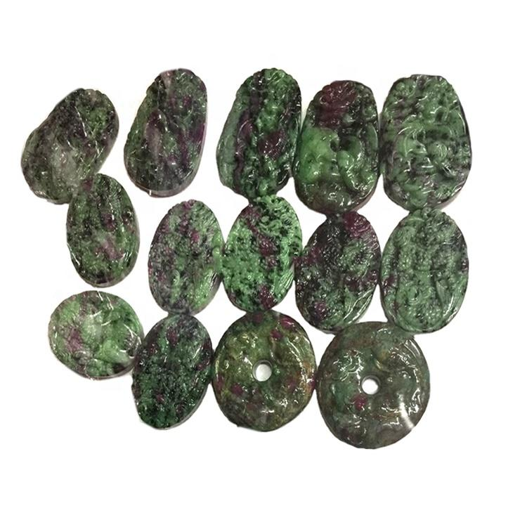 Customizable 925 Sterling Silver Natural Ruby Zoisite Gemstone Necklace Pendant/Designer Flower Handmade Pendant/Present For Her