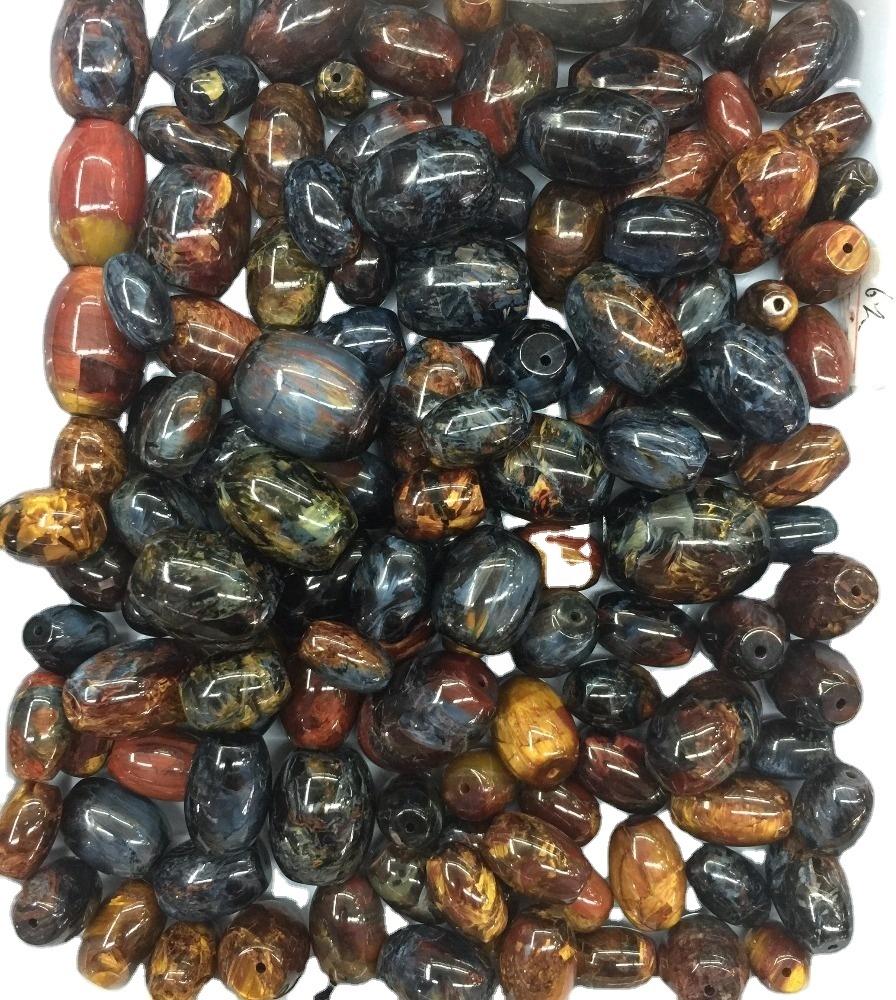 Natural Blue Pietersite barrel Beads from Namibia South African Pietersite Barrel Beads Pietersite loose gemstone
