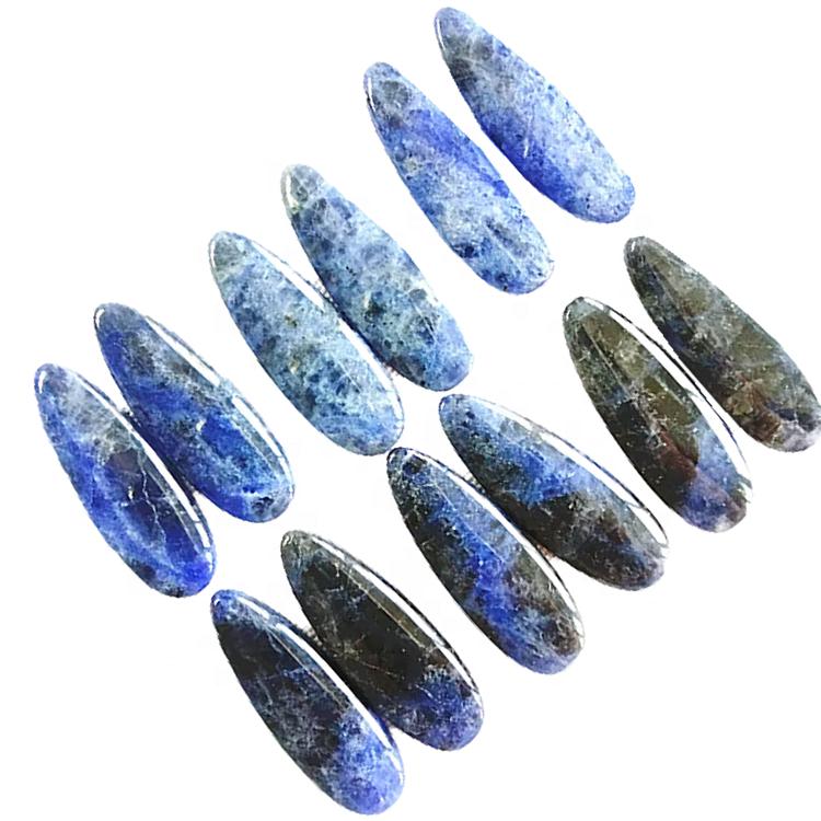 Natural Sodalite pair Water drop shape smooth polishing gemstone Wholesale and retail loose gemstone