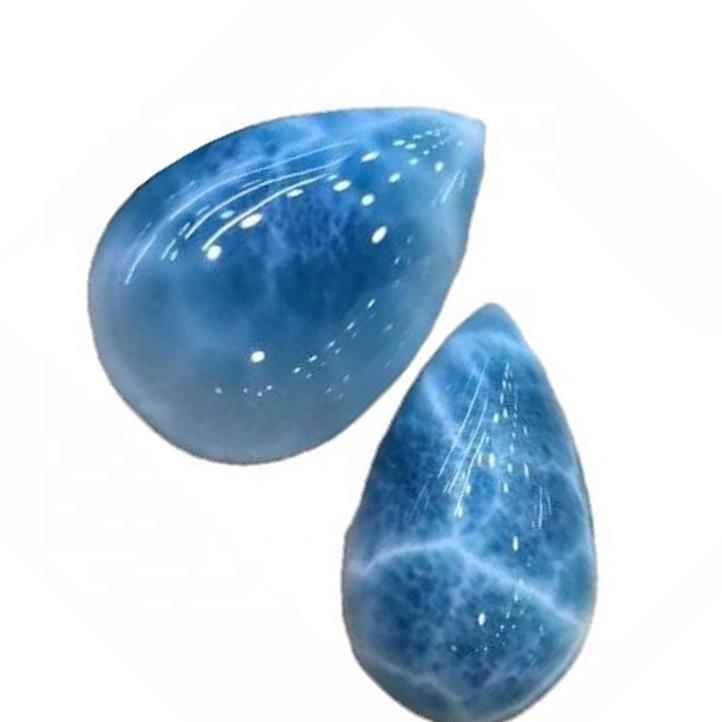 Wholesale larimar rough natural larimar cabochon AAA grade Genuine Larimar Cabochons Pear pendant