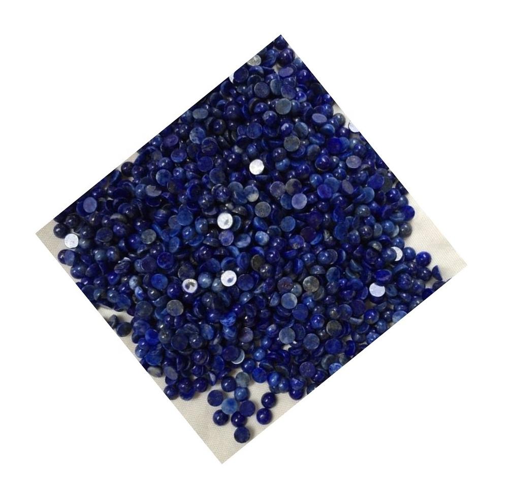 Natural Lapis Lazuli Round Cabochon Flat Back Loose Gemstone make Jewelry