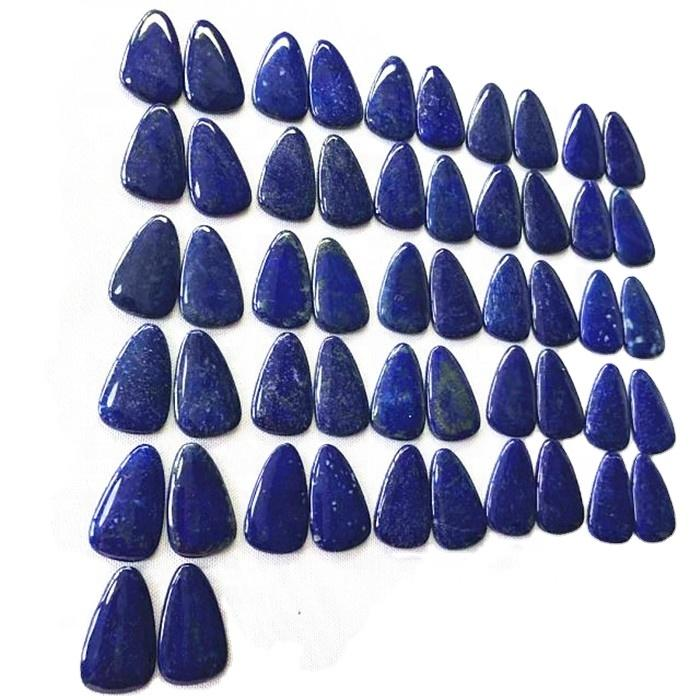 Gorgeous Lapis Lazuli Cabochon Pair Gemstone Handmade Cabochon Match Pair Lapis Jewelry Stones