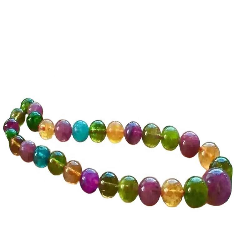Tourmaline rubellite natural stone healthy necklace