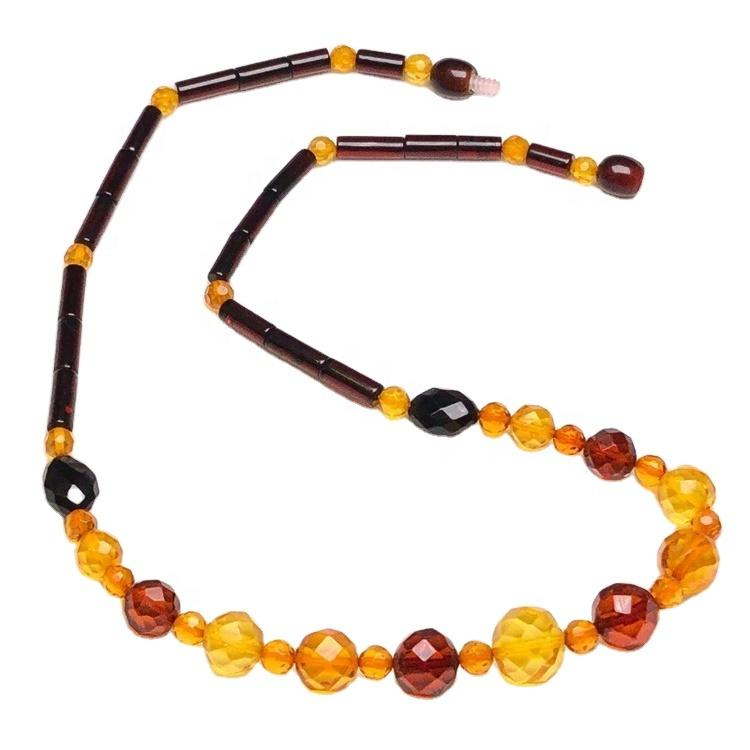 wholesale Amber round beads necklace jewellery