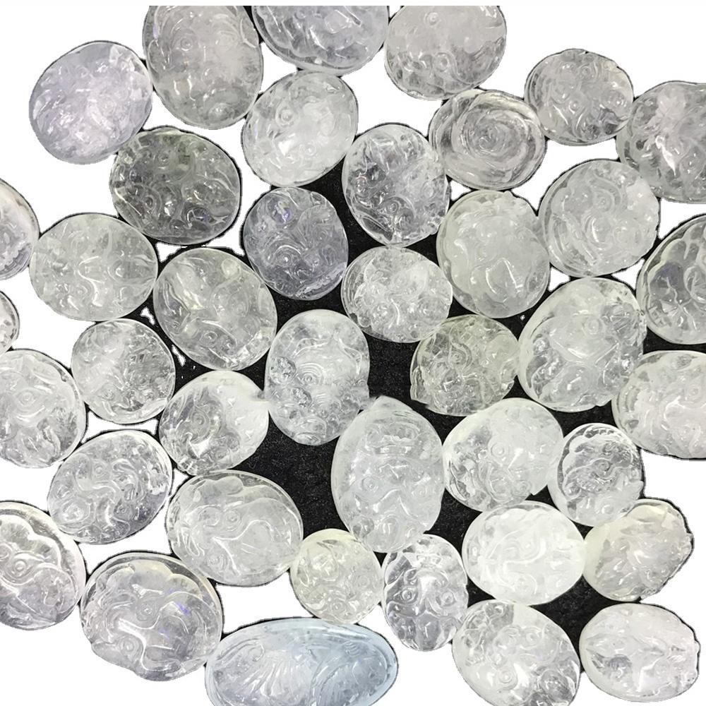 Morganite carving animals and flowers beads and cabochons make wholesale