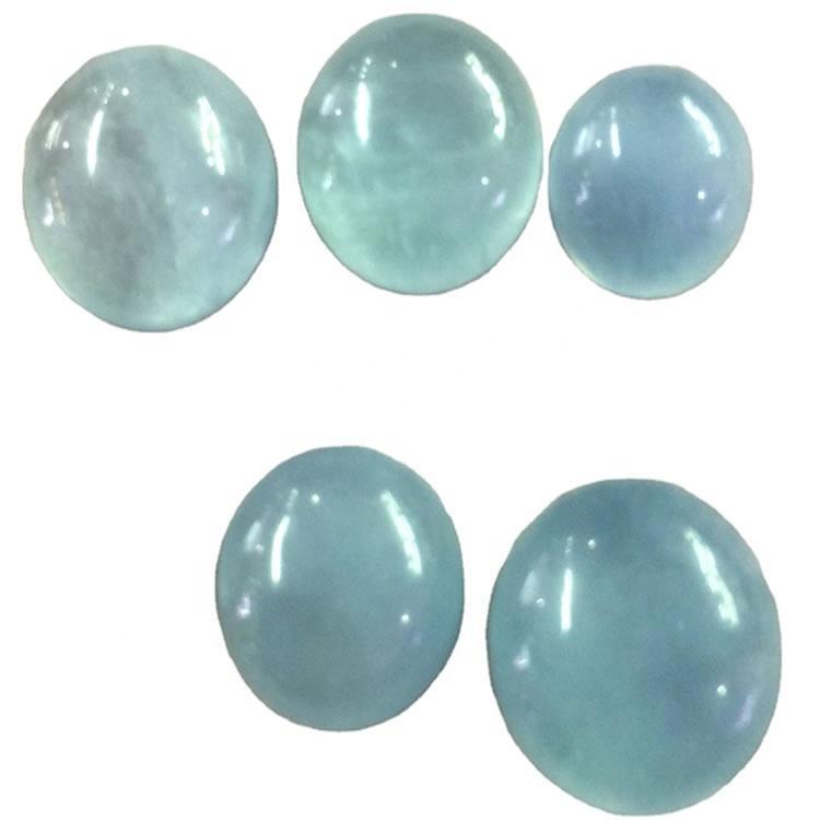 Natural Aquamarine Cabs AAA Quality cabs Milky Blue Aquamarine Cabochon Calibrated Loose Stone
