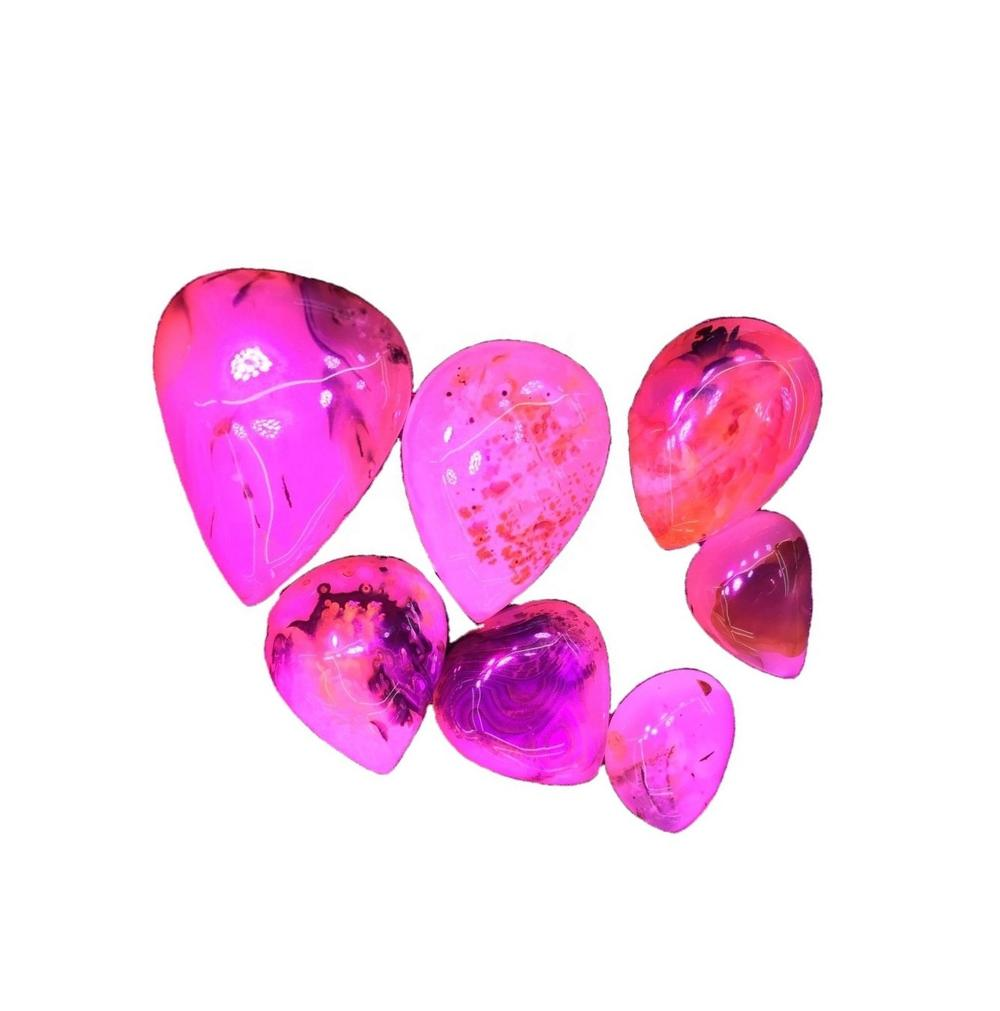 Natural Cherry Blossom Agate Pendant Marquise Leaf Pear Shape Small Puffy Gemmy Natural Stone Pendan