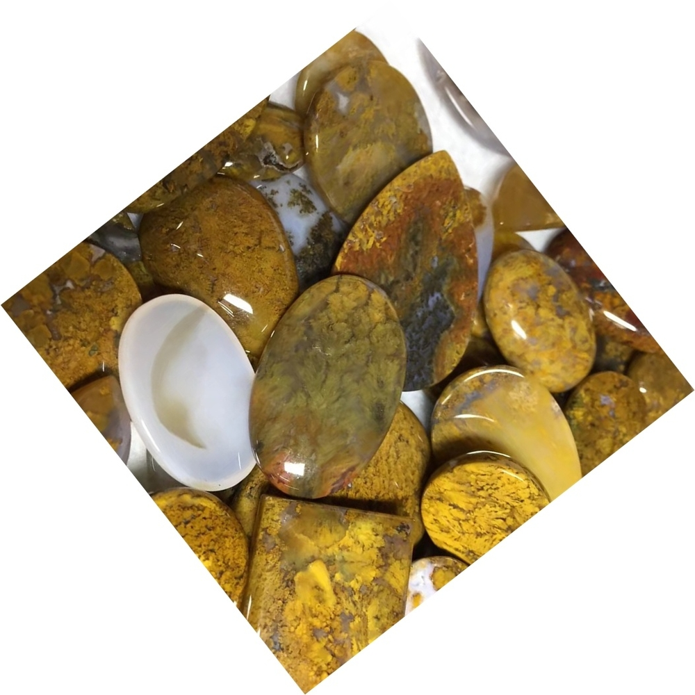 Moswana agate smooth cabochons Moss Agate Stone Natural Gemstone Cabochon Teardrop Agate