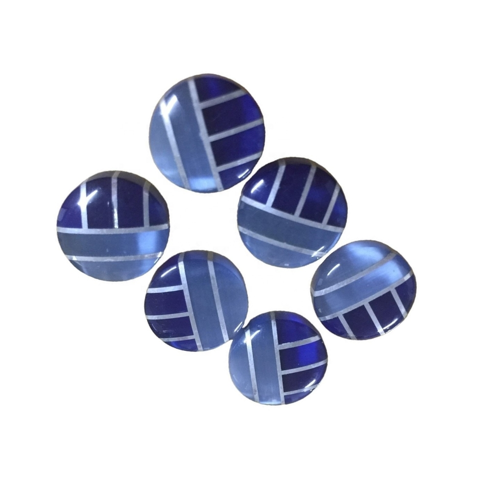 Wholesale Handmade Natural gemstone mosaic doublet cabochons jewelry