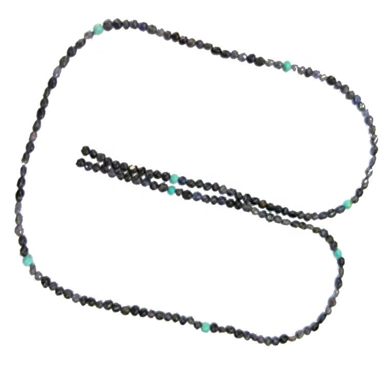 Irregular beads turquoise necklace jewellery