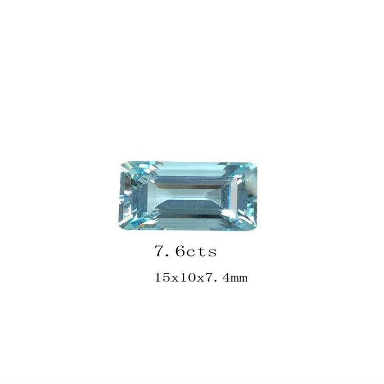 Aquamarine Blue 10x14x5mm Oval Square rectangle Shape Simulated Gemstone Faceted For Making Jewelry