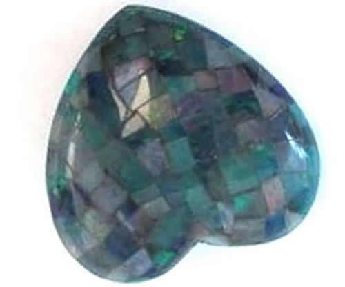 Wholesale Handmade Natural America Turquoise obsidian heart shape Mosaic cabochons