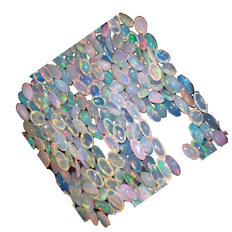 Bello Opal white natutally opal cabochons in round and oval shape in mix colors for necklace