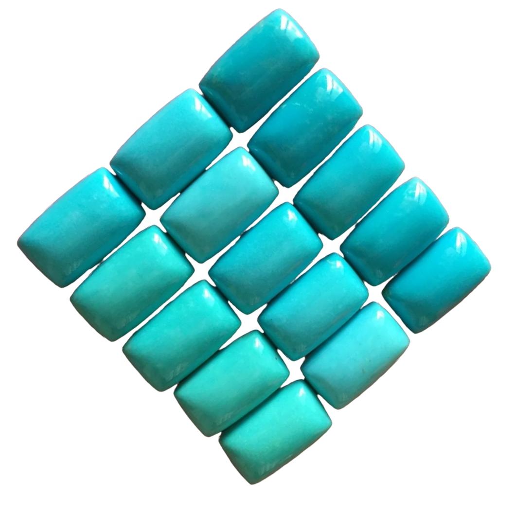 Natural Sleeping Beauty Arizona Turquoise Cabochon Cushion Sizes 4x6 5x7 6x8 7x9 8x10 9x11 10x12 10x14mm Turquoise for jewelry