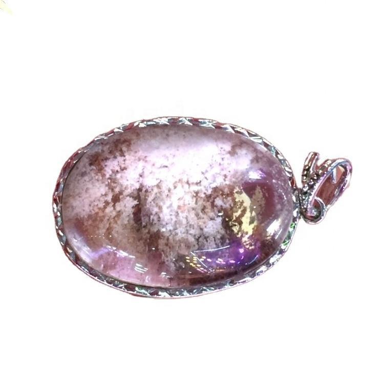 925 Sterling Silver Genuine Phantom Quartz pendant jewelry