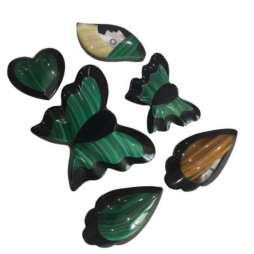 Hot-sale Mosaic Jasper Mixed Gemstone Green drop shape  Jewelry