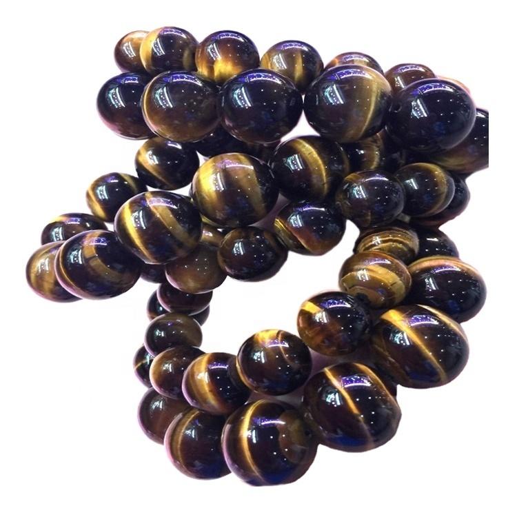 Natural gold color Tiger eye Gemstone Beaded Chakra Bracelet for Men & women bracelet jewellery
