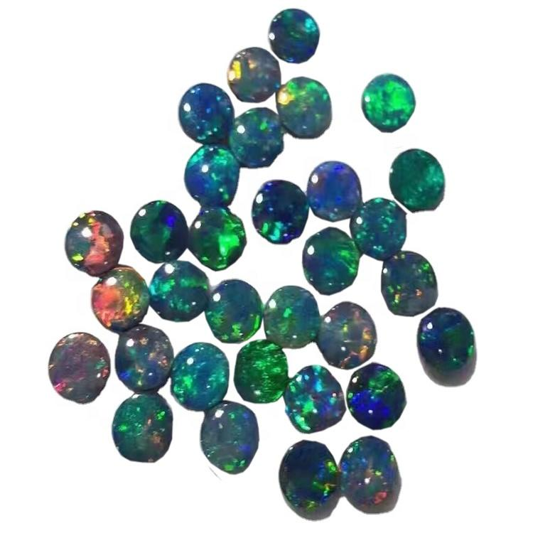 Natural Ethiopian Black Opal Mix Shapes Cabochon Loose Gemstones