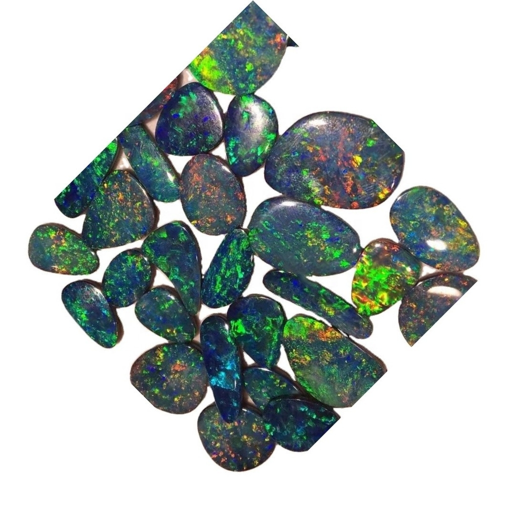 Natural Ethiopian opal cabochon colorful and big size opal