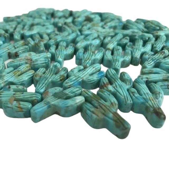 Huge Old Vintage Chinese Carved Turquoise Beads for gemstone jewellery making