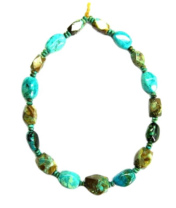 Natural star shape beads turquoise necklace jewellery Chunky statement turquoise boho necklace