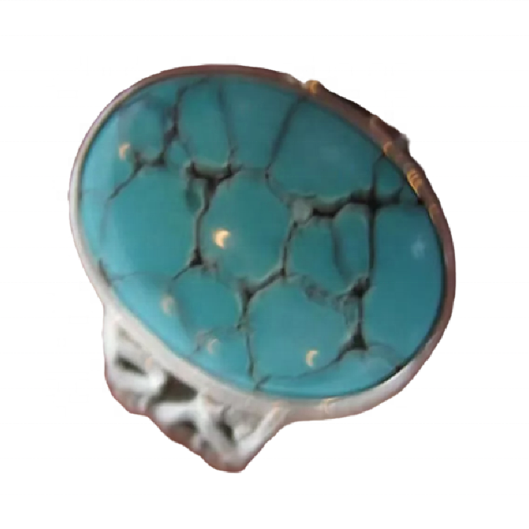 Natural Turquoise Essential Ring 925 Sterling Silver Turquoise Ring Jewelry