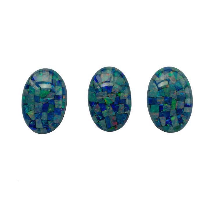 20X30X7.6mm Blue with crystal Welo Fire Ethiopian Opal Cabochon Oval shape Gemstone