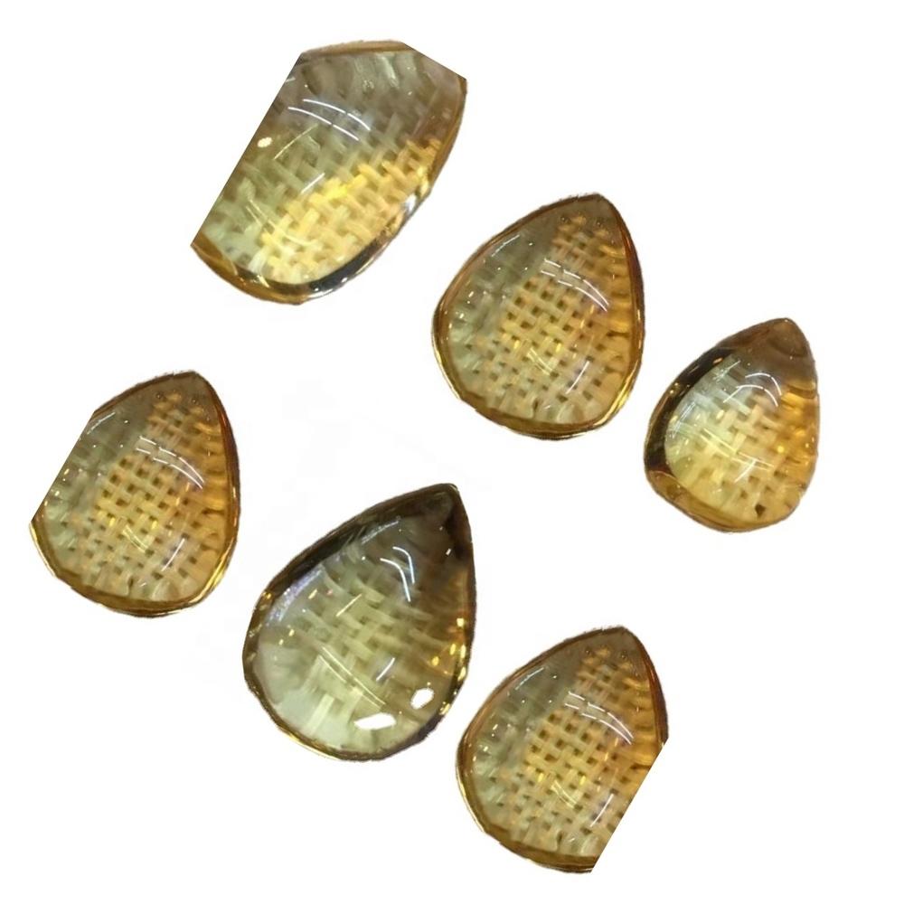 100% Natural Citrine pear shape Cabochon make wholesale Calibrated Pear Cut Citirne loose gemstones
