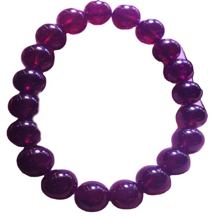 Top Quality Gemstone Natural Purple Garnet Stone Round Beads Bracelet
