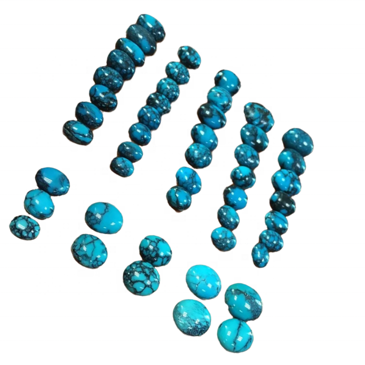 Natural turquoise gemstone cabochon for inlays