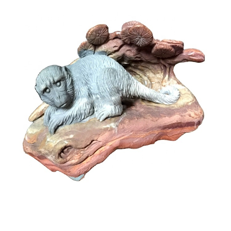 Latest hot sale cheap well beautiful hand carved monkey sculptures