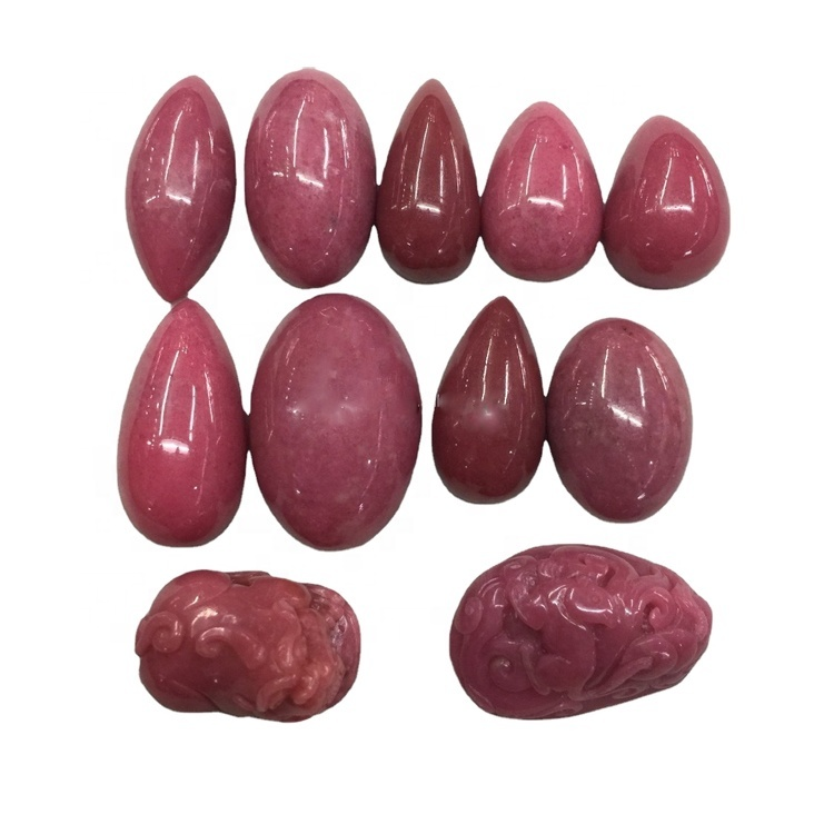 Natural rhodonite red stone carved animal carved pendant