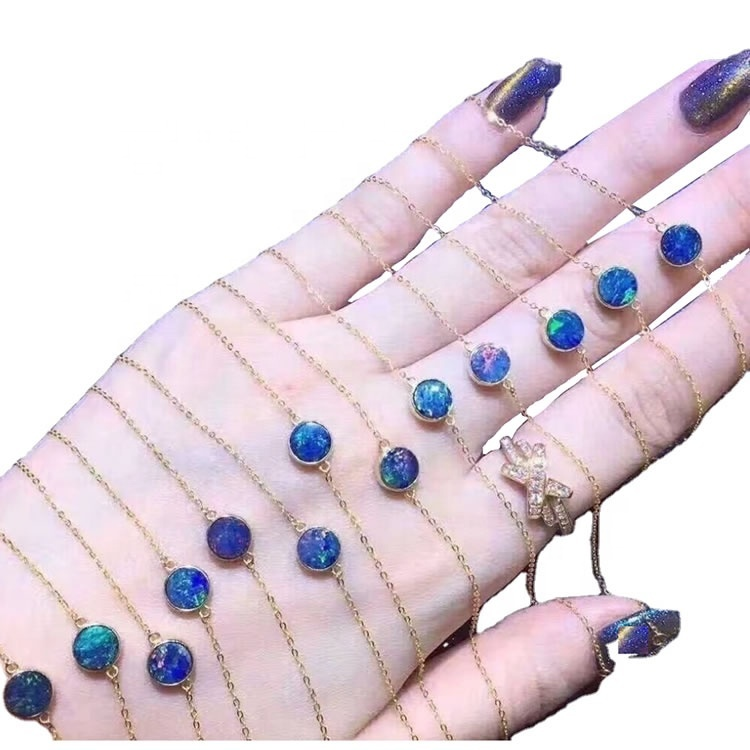 925 sterling silver necklace opal jewellery necklace