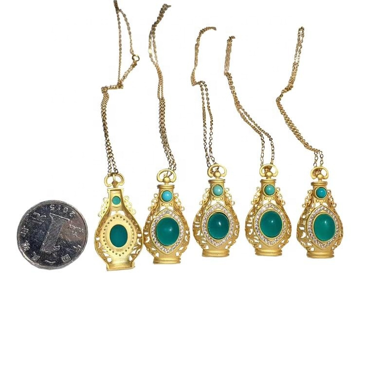 Unique Vase shape design Beautiful Natural  Amazonite and Turquoise Necklaces for woman jewelry