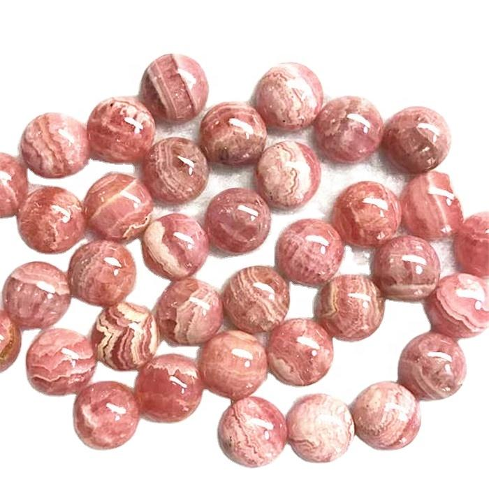 Beautiful  Round shape pink polishing and smooth  gemstone Natural Rhodocrosite Gemstone Cabochon Good Prices Jewelry Pendant