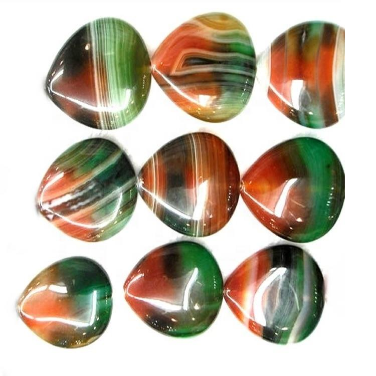 orange agate gemstone beads