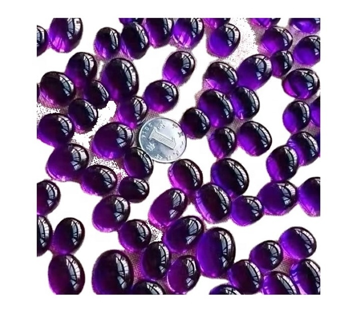 3A Natural Amethyst Oval Cabochon Calibrated Size Loose Gemstone