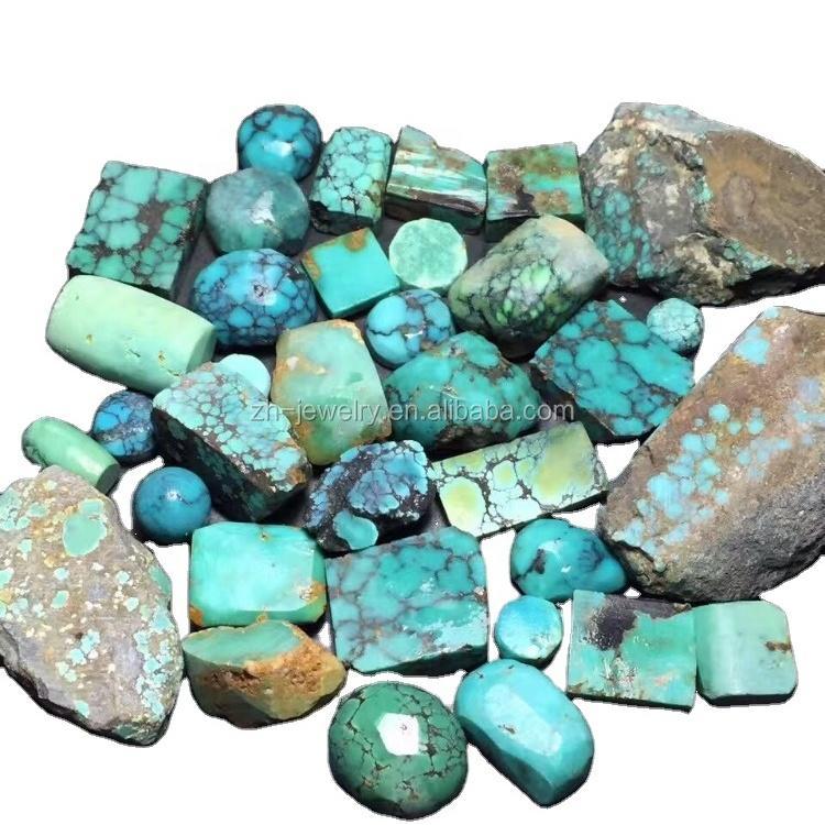 Turquoise Chinese Jade Mineral Gemstones Turquoise Rough Chinese Turquoise rough make wholesale