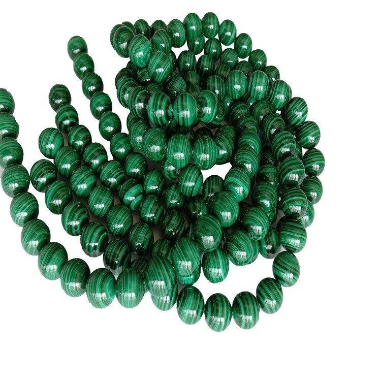 Wholesale gemstone beads green Natural malachite 12mm green gemstone beads  per strand  16inch