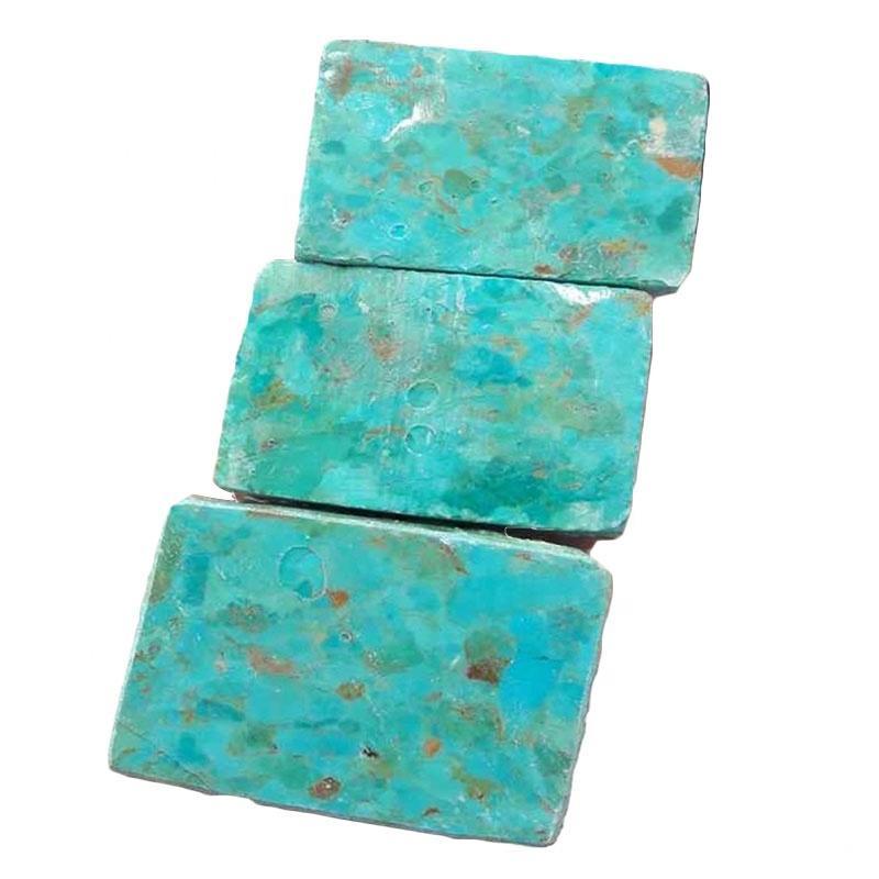 natural compressed turquoise block Natural Amazing Designer Multi Color Turquoise beicks Rough Specimen