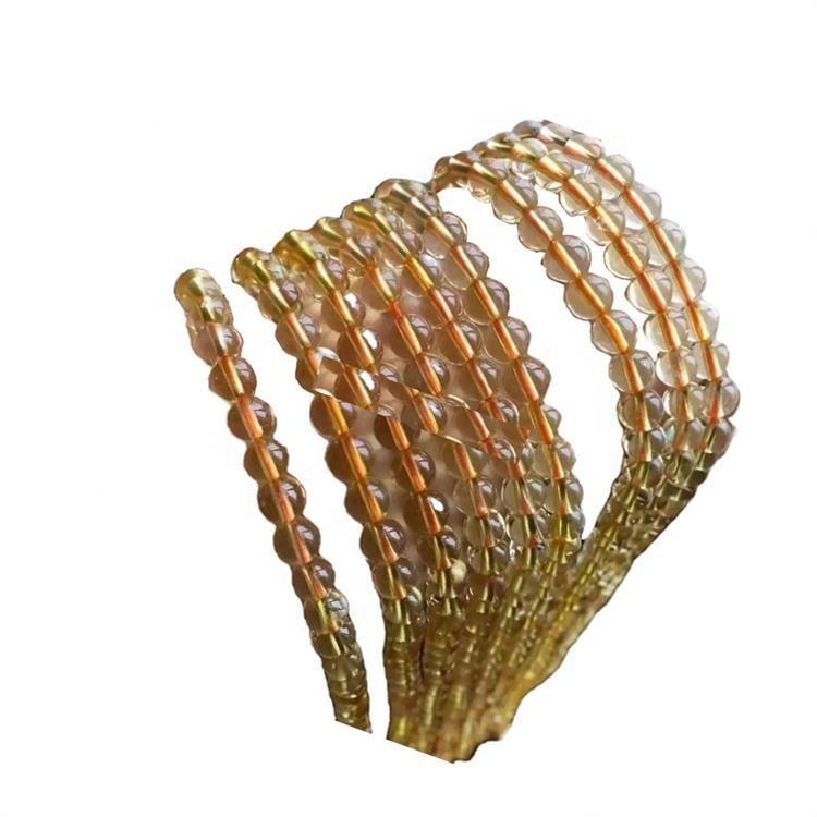 Wholesale Price Round Shape Citrine Natural Gemstone Beads necklace